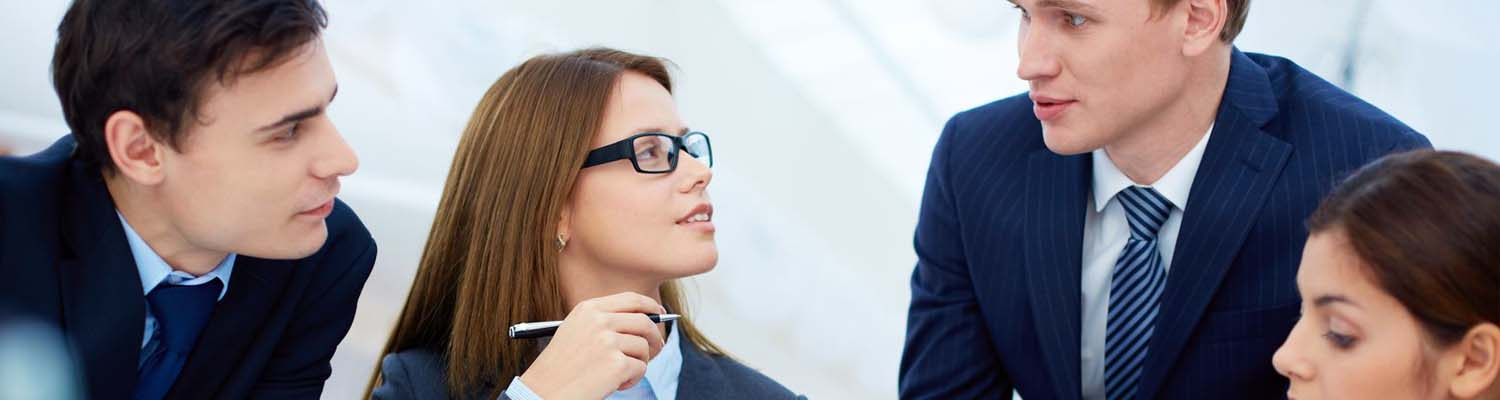 slider image business woman with glasses